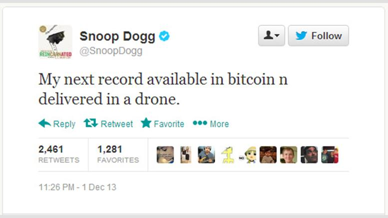 Humor: Snoop Dogg Tweets About Bitcoin