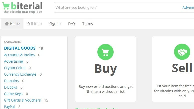 Biterial.com Launches Bitcoin Auction Marketplace