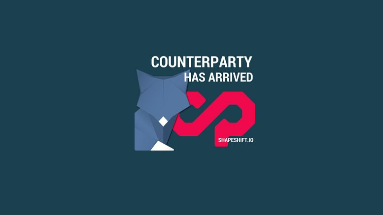 ShapeShift.io Integrates Counterparty (XCP) into Instant Exchange Platform