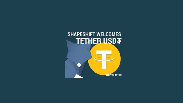 ShapeShift.io Integrates Tether into its Asset Exchange