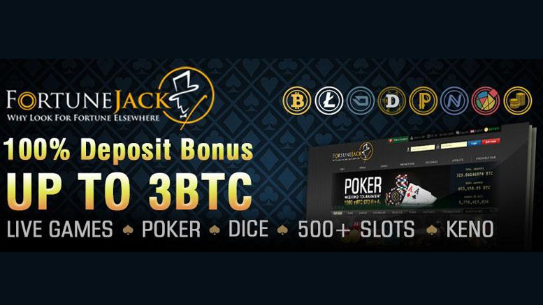 FortuneJack Offers Bitcoin Deposit Bonus of 3 BTC, Live Dealer Games, and Over 400 Bitcoin Slots