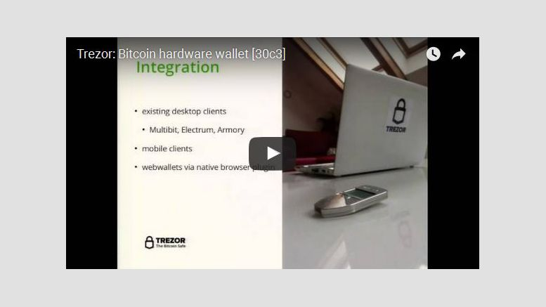 Video: TREZOR Bitcoin Hardware Wallet at 30c3