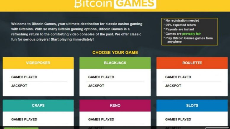 Bitcoin Games – Use Your Bitcoins to Play Casino Games