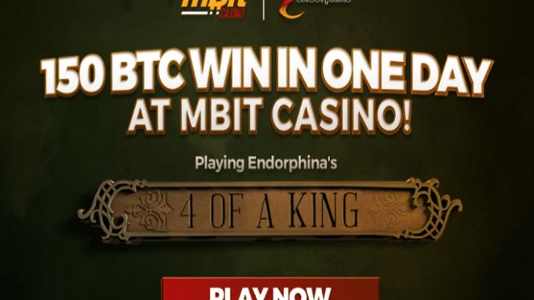 Endorphina Game Pays Over 150 BTC at mBit Casino!