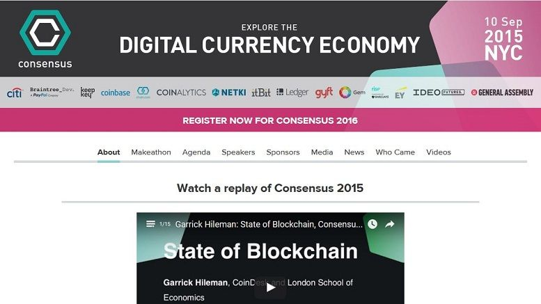 Citi Joins CoinDesk's Consensus 2015 Conference as Title Sponsor