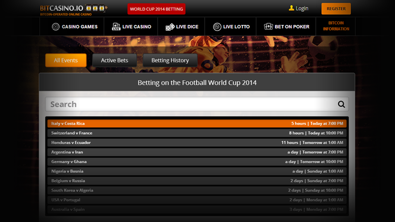 BitCasino.io Launches World Cup Sportsbook