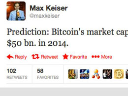 Max Keiser Predicts $50 Billion Bitcoin Market Cap in 2014
