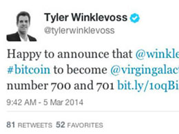 The Winklevoss Twins Paying in Bitcoin To Take A Virgin Galactic Flight