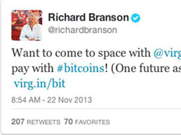 Virgin Galactic to Accept Bitcoin Payments for Space Flights