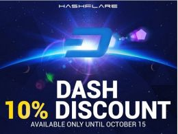 Hashflare Offers 10% Discount on Dash Cloud Mining Contracts