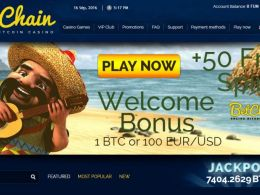 BetChain – Get 100% Bonus Plus a lot of Free Spins