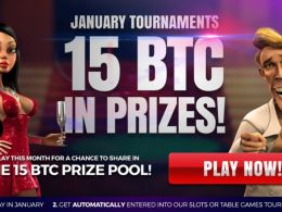 15 BTC in January Tournaments at mBit Casino!