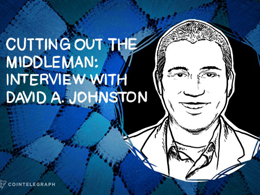 CUTTING OUT THE MIDDLEMAN: INTERVIEW WITH DAVID A. JOHNSTON
