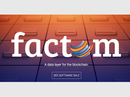 Factom Raises $140k in First Day of 'Software Sale'
