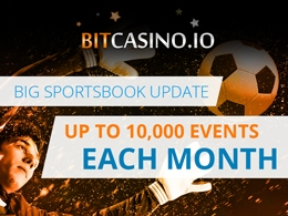 Bitcasino.io Updates Sportsbook to Include Up to 10,000 Events Each Month