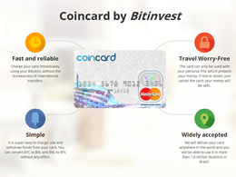 BitInvest's Coincard is a Prepaid MasterCard for Bitcoin Lovers