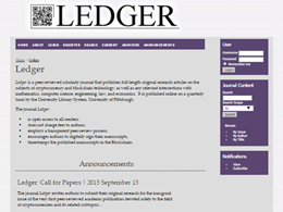 Ledger, Crypto Only Journal for the Academia