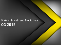 State of Bitcoin Q3 2015: Banks Embrace Blockchain Amid Bitcoin Funding Slowdown